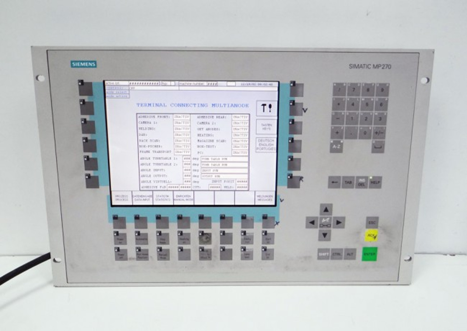 Siemens MULTI PANEL 6AV6542-0AD15-2AX0  6AV6 542-0AD15-2AX0 E:8 MP270 TFT