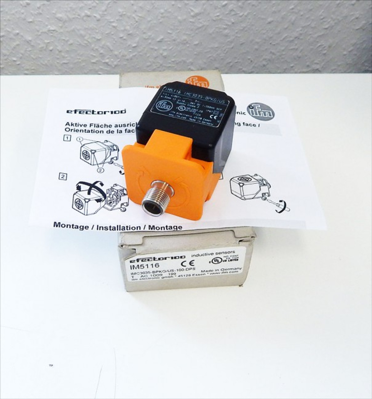 IFM efector 100 IM5116 indukt.Sensor IMC3035-BPKG/US-100-DPS - unused - in OVP